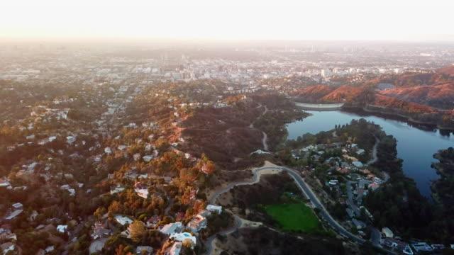 Aerial: Damn, Lake, LA Basin