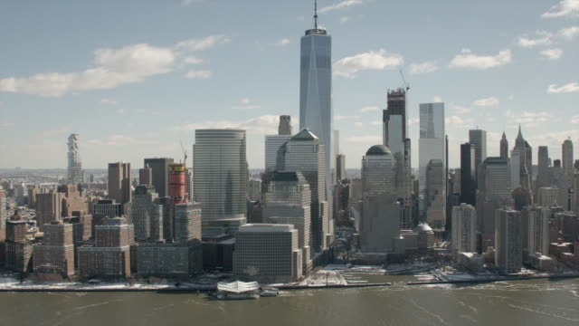 Aerial Daytime View Of Downtown Manhattan, NYC