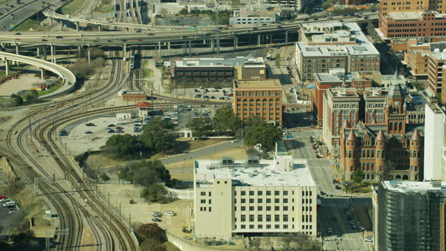aerial dealey plaza - 1963 stock videos & royalty-free footage