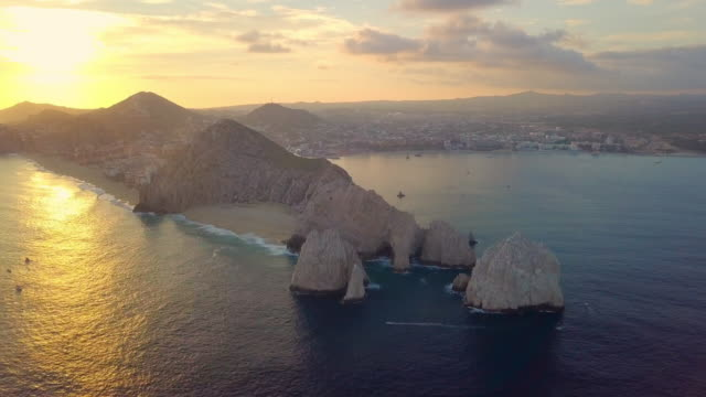 aerial descending: captivating area of rock cliffs - arch stock videos & royalty-free footage