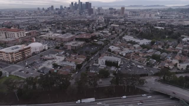 aerial downtown los angeles - establishing shot stock videos & royalty-free footage