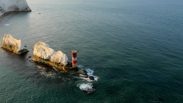 Aerial Drone Isle of Wight Needles England travel