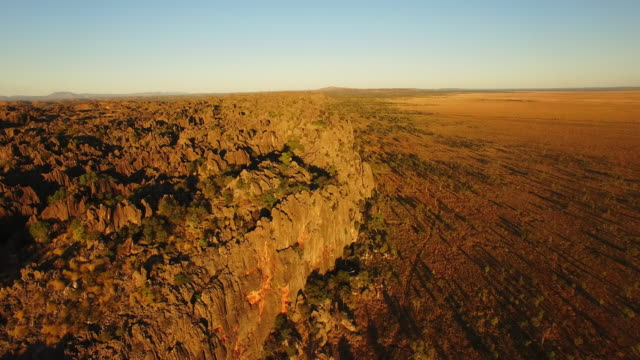 aerial drone over windjana gorge - national park stock videos & royalty-free footage