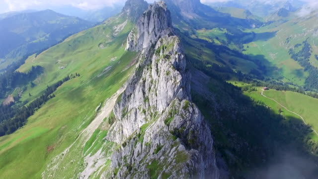 Aerial drone scenic mountain view. - Time-Lapse