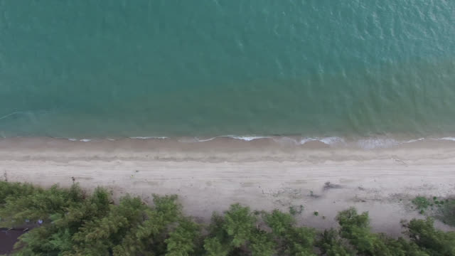 aerial drone shot of a beach - coastline stock videos & royalty-free footage
