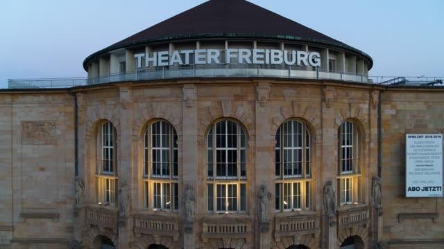 Luft-Drohne erschossen eines Theaters in Freiburg
