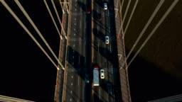 Aerial drone shot of George Washington Bridge