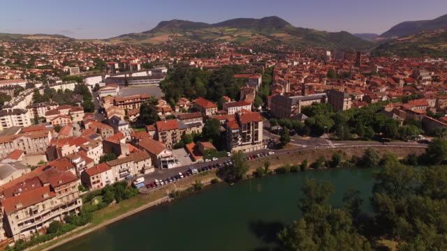 """vidéos et rushes de aerial drone shot of millau, france - """"bbc universal"""""""