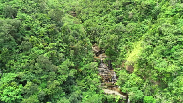 aerial drone shots of iriomote island, okinawa - mountain range点の映像素材/bロール