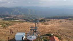 Aerial drone video of the mountain Stara planina in Serbia - Balkan mountains