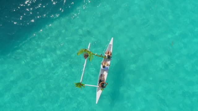 aerial drone view of a luxury resort in bora bora tropical island. - bora bora aerial stock videos and b-roll footage
