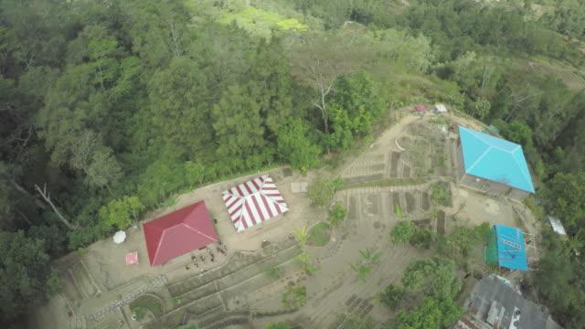 aerial drone view of farms in timor leste - ekoturism bildbanksvideor och videomaterial från bakom kulisserna