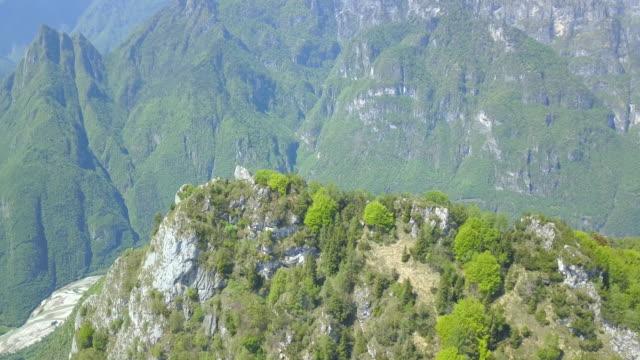 stockvideo's en b-roll-footage met aerial drone view of mountains in italy. - men