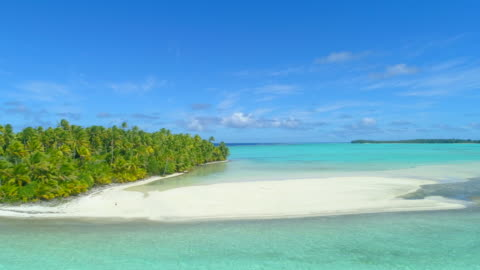 aerial drone view of scenic tropical islands in french polynesia. - pacific islands stock videos & royalty-free footage