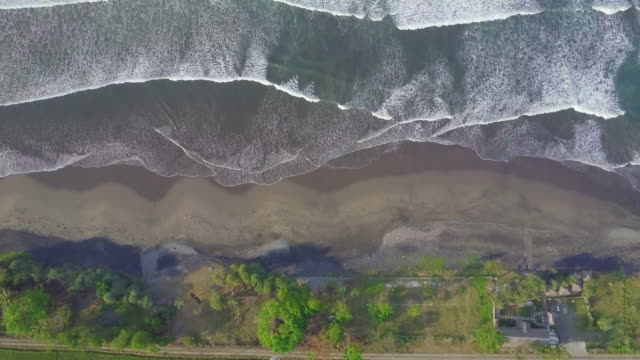 Aerial drone view of the beach in Indonesia.