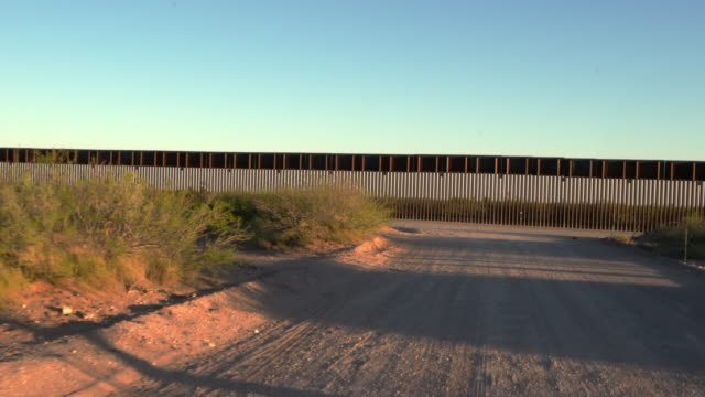 aerial drone view of the international border wall along the texas, new mexico border and mexico - international border stock videos & royalty-free footage