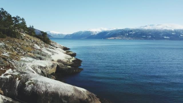 Luftbild-Drohne Ansicht: Sognefjorden in Norwegen
