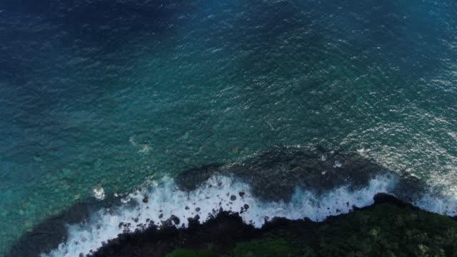 aerial drone view - coastline stock videos & royalty-free footage