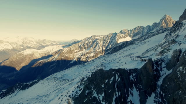 Aerial Drone Views of Chamonix and the Mont blanc Region