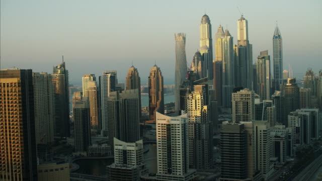 Aerial Dubai Apartments Dubai Marina Skyscrapers Arabic UAE