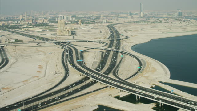 Aerial Dubai Intersection Dubai Creek Oud Metha Road