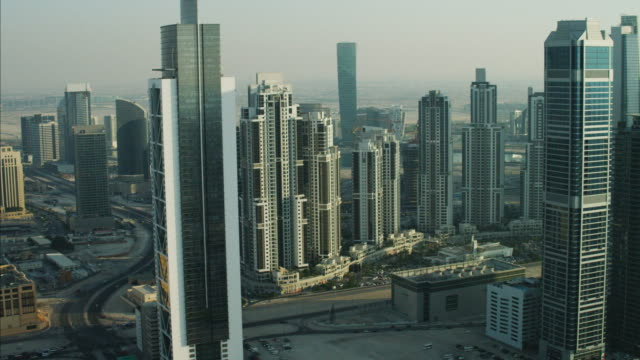 Aerial Dubai Millennium Tower Skyscrapers Apartments UAE