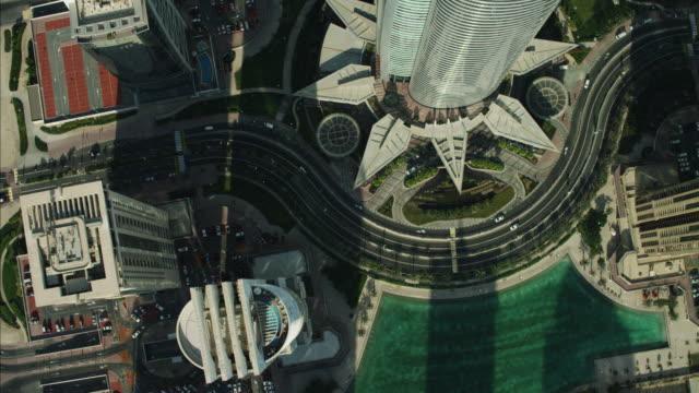 aerial dubai skyscrapers building growth uae - dubai stock-videos und b-roll-filmmaterial