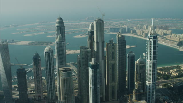 Aerial Dubai Skyscrapers Palm Jumeirah Island Dubai UAE