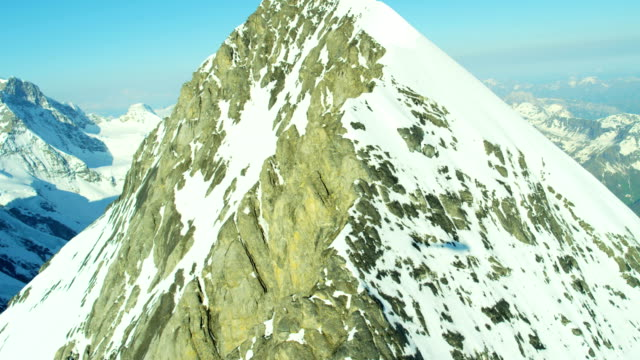 aerial eiger switzerland rock ice mountain alps hiking - bernese alps stock videos & royalty-free footage