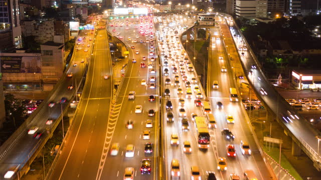aerial elevated highway cars traffic - london england stock videos & royalty-free footage