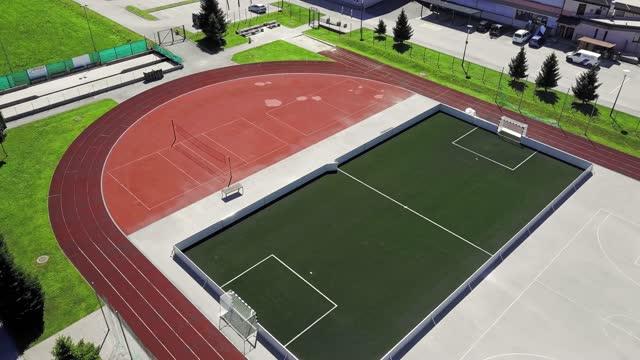 空中 - 国側の空のスポーツスタジアム - 球技場点の映像素材/bロール