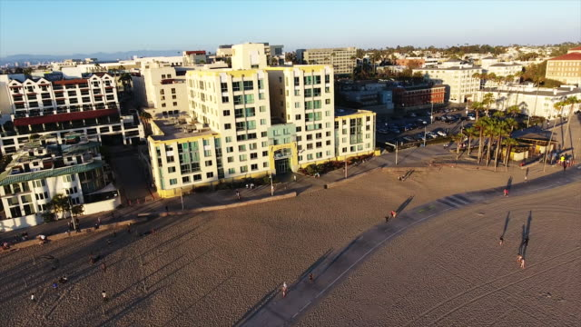 aerial, establishing santa monica - santa monica stock videos and b-roll footage
