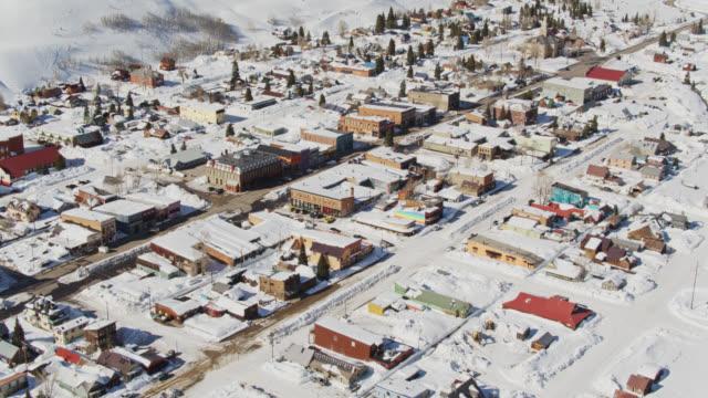 aerial establishing shot of silverton, colorado - small town america stock videos & royalty-free footage