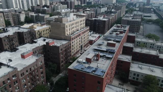 aerial establishing shot the bronx, new york city - aerial stock videos & royalty-free footage