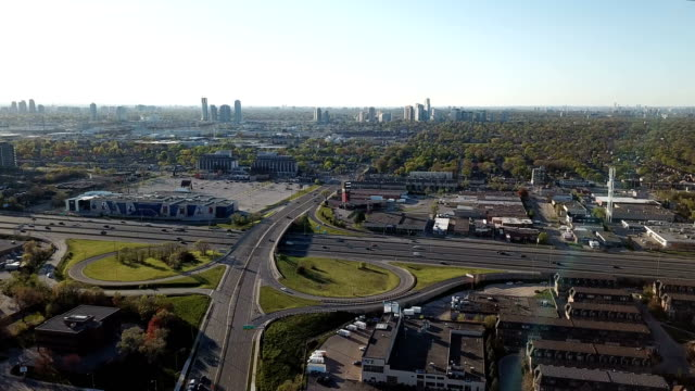aerial etobicoke scenes on gta of ontario, canada - toronto stock videos & royalty-free footage