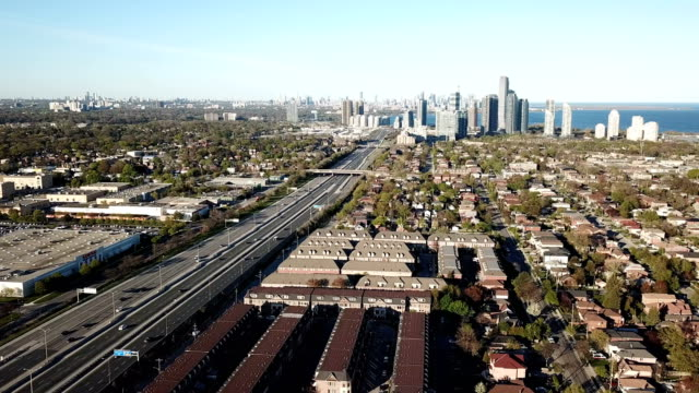 aerial etobicoke scenes on gta of ontario, canada - ontario canada stock videos & royalty-free footage