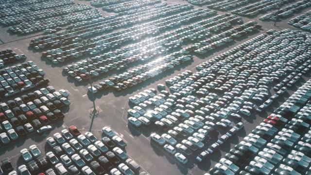 空中輸出駐車場 - 繁栄点の映像素材/bロール