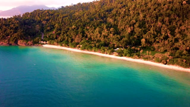 aerial fly over koh chang beach - trat province stock videos and b-roll footage
