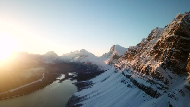 aerial fly over mountains - snowcapped mountain stock videos & royalty-free footage