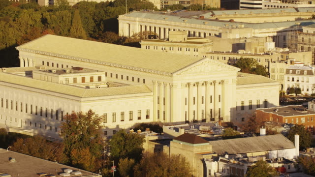 aerial flying across supreme court of the united states, washington dc - supreme court stock videos & royalty-free footage