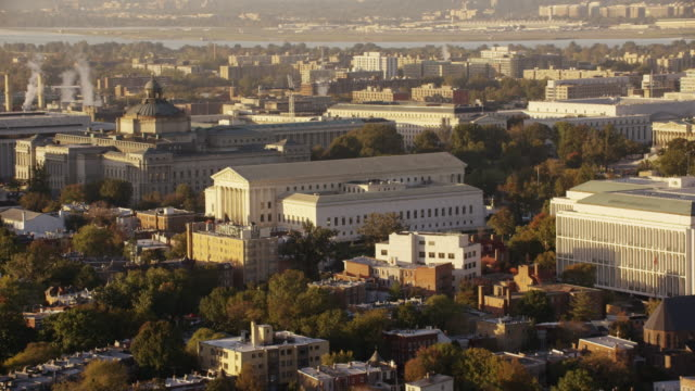 aerial flying around supreme court of the united states, washington dc - ronald reagan washington national airport stock videos and b-roll footage