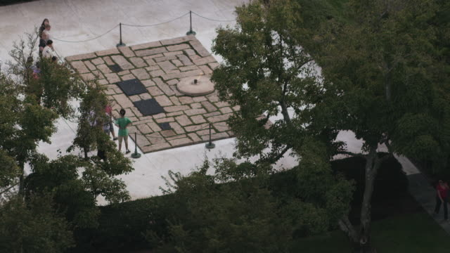 aerial flying over arlington national cemetery, daytime  - arlington virginia stock videos & royalty-free footage