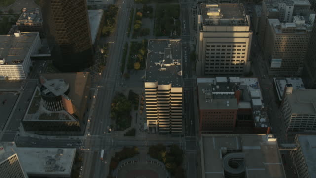 Aerial Flying Over Downtown St Louis