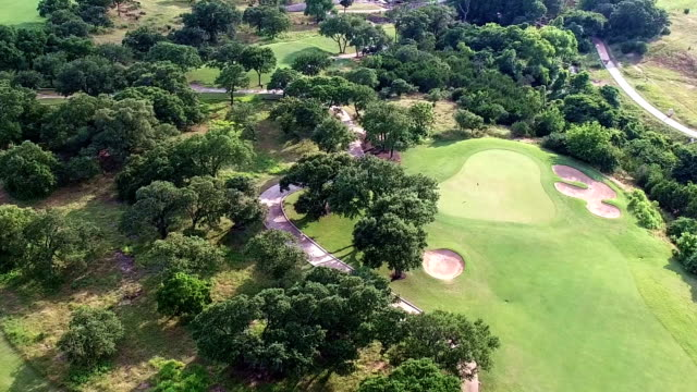 Aerial Flying Over Golf Course Central Texas Round Rock Austin Hill Country Shot in 4K
