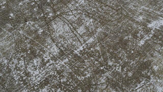stockvideo's en b-roll-footage met aerial flyover view of snow in remote field / lehi, utah, united states - lehi