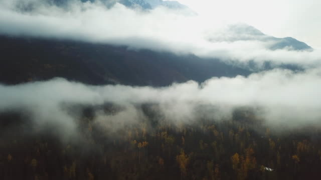 aerial fog over mountains range - condensation stock videos & royalty-free footage