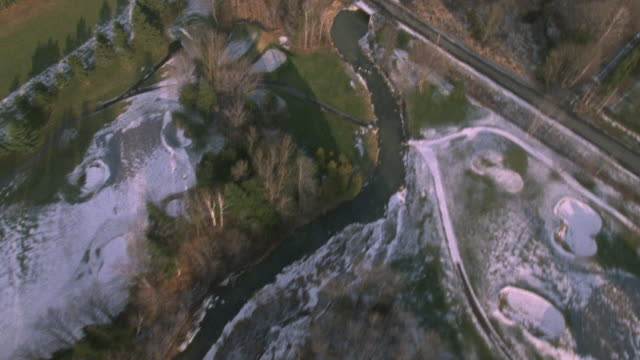 aerial following river, resevoir road - ottawa stock videos and b-roll footage