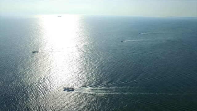 Aerial footage at Iragomisaki coastline in Atsumi Peninsula, Aichi, Japan