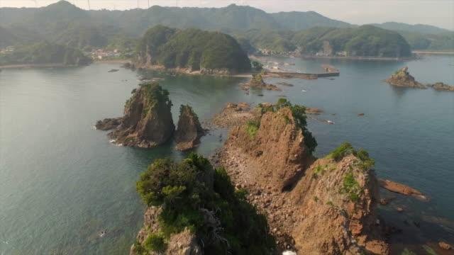 Aerial footage at Ose coastline in South Izu, Shizuoka, Japan