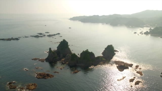 Aerial footage at Ose coastline in South Izu, Shizuoka, Japan